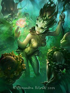 Dryads magic by Alexandra | Fantasy | 2D | CGSociety