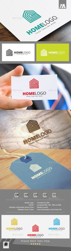 Home Logo Template by maraz2013 Logo Template Features : - 100 Scalable Vector Files - Photoshop File also - Editable - Resizable - Easy to edit color / text -