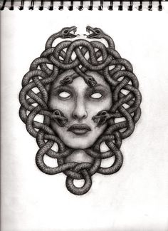 Medusa by on DeviantArt Medusa Kunst, Medusa Art, Medusa Gorgon, Medusa Tattoo, Sternum Tattoo, I Tattoo, Lizard Girl, Greek Monsters, Feminine Symbols