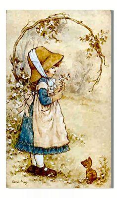 Sarah Kay Ilustraciones, material uso docente, confeccionar, tarjetas, postales, decoupage, ideas, diseños. Continue leyendo
