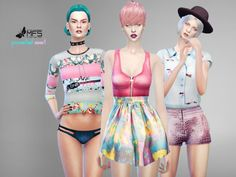 http://missfortunesims.tumblr.com/post/117928914062/mfs-pastel-set-the-collection-includes-dress