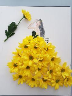 Flower Petals, My Flower, Flower Art, Fashion Illustration Sketches, Fashion Design Sketches, Art Drawings Beautiful, Paper Fashion, Little Flowers, Weird Art
