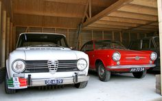 Alfa Romeo Giulia and Fiat 850 Sport Coupé
