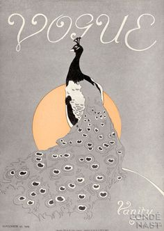 ⍌ Vintage Vogue ⍌ art and illustration for vogue magazine covers - peacock