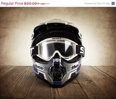 CHRISTMAS in JULY SALE Vintage Motocross Helmet and Goggles, Wall Decor, Wall Art,  Kids Room, Gift Ideas, Motorcycle Prints on Etsy, $18.00