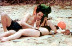 Elvis and Priscilla on vacation in Hawaii