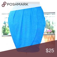 Cobalt Blue Plus Size Tulip Skirt -BNWT! Brand new, never worn. Size 22/24 or 3X. Knee length and from my pet and smoke free home. True to size. No trades or sales off of Poshmark, please! SWAK Skirts Midi