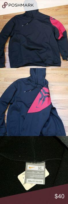 Nike hoodie Nike hoodie. Size XL, black with drawstring hood, slip pockets. NWT Nike Jackets & Coats