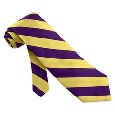 Purple and yellow striped tie