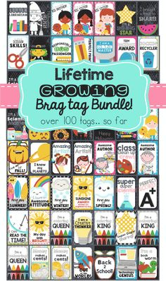 $15 Brag Tags for EVERYTHING! Award your students with positive reinforcement, and make your classroom run smoother! This is an amazing classroom management system!