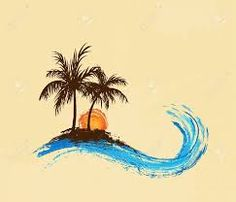 Image result for abstracted coconut tree
