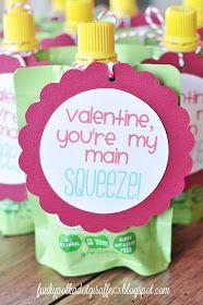 Funky Polkadot Giraffe: Preschool Valentines: You're My Main SQUEEZE!