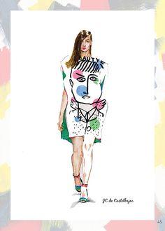 JC de Castelbajac Spring 2014 #aleksandrastanglewicz #fashionillustration #illustration #catwalk #spring2014 #art #jcdecastelbajac