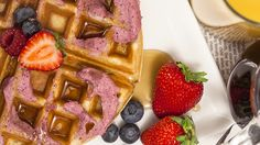 Berry Infused Buttercream Waffles Recipe | Blendtec