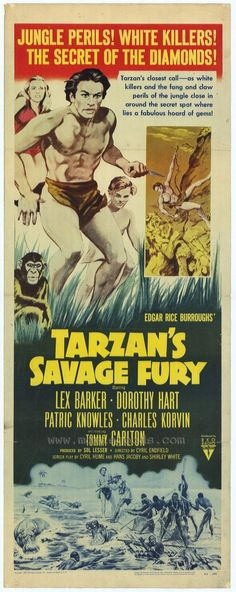 Tarzan's Savage Fury posters for sale online. Buy Tarzan's Savage Fury movie posters from Movie Poster Shop. We're your movie poster source for new releases and vintage movie posters. Tarzan Series, Tarzan Movie, Tarzan Of The Apes, Tarzan And Jane, Best Movie Posters, Movie Poster Art, Broadway Posters, Fantasy Movies, Fantasy Art