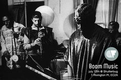 Boom Music is Colectivo Futuro's new monthly after-work jam and yard party, with residents Oliver Brunetti and Miguel Colmenares exploring jazz, hip-hop, house, bass, and everything in between.  Infos here: https://www.facebook.com/events/260925237379456/?fref=ts
