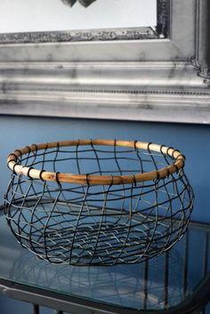 Wire Storage Basket with Wood rocketsstgeorge.co.uk