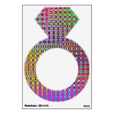 Psychedelia Diamond Ring Wall Decal