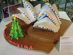 The Dieter Family - Sydney Opera House in gingerbread. photo by Flickr user 'sassybeautimus' Christmas Gingerbread, Gingerbread Cookies, Christmas Cookies, Gingerbread Houses, Christmas And New Year, Xmas, Christmas Ideas, Australian Christmas Food, House Cake