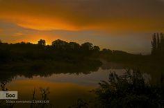 The Rising by gregandrascik  cloud creek landscape mist reflection silhouette sunrise trees water The Rising gregandrascik