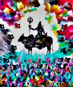 Shiva Linga, Shiva Shakti, Ganesha Painting, Lord Shiva Painting, Shiva Art, Hindu Art, Acrylic Painting Canvas, Canvas Paintings, Lord Mahadev