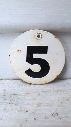 5 #number #emaille