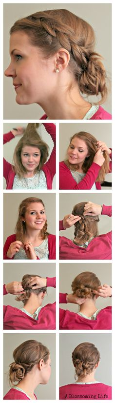 An easy braided updo that only takes a few minutes!    :: A Blossoming Life