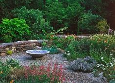 I love pea gravel instead of lawn. I feel like I'm at the beach and the garden looks great with no mowing.
