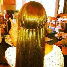 My hair! Waterfall Braid :)