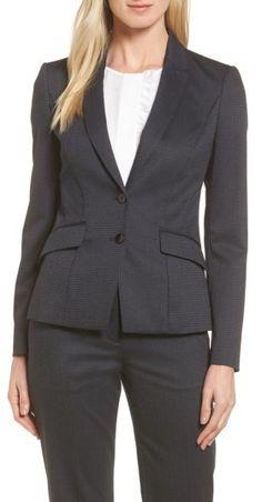 e52c24a5927e Petite Women s Boss Jukani Check Wool Blend Suit Jacket Suits For Women