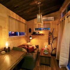 With a tiny home, it's possible to stay modern while still keeping a cozy and warm atmosphere.
