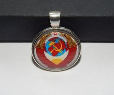 State simbol of the Soviet union pendant necklace, simbol USSR keychain, Coat of arms Soviet Union, socialist heraldry, communism simbol
