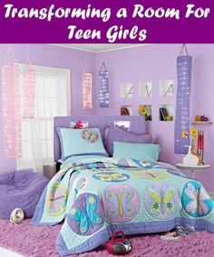 Cool Ideas for Your Teenage Girl's Room. purple bedroom, purple bedroom ideas, purple bedroom decor, purple bedroom ideas for teens, purple bedroom. Bedroom Ideas For Small Rooms Women, Room Decor For Teen Girls, Bedroom Decor For Couples, Small Room Bedroom, Trendy Bedroom, Couple Bedroom, Teen Decor, Girl Decor, Purple Bedroom Decor