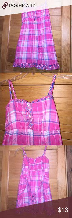 Ruffle plaid cami Never been worn!! SO Shirts & Tops Tank Tops