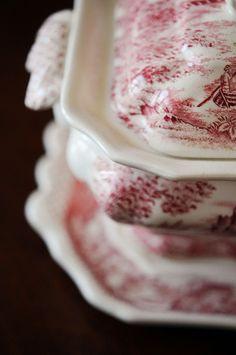 transferware casseroles
