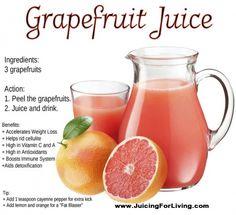 health benefits of grapefruit juice, including weight loss Health Benefits Of Grapefruit, Grapefruit Diet, Juicing Benefits, Grapefruit Water, Healthy Juices, Healthy Drinks, Juicer Reviews, Best Smoothie Recipes, Smoothie Menu
