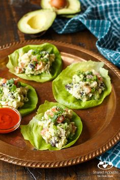 Southwest Avocado Chicken Salad Lettuce Wraps | sharedappetite.com