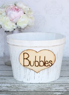 Rustic Wedding Decor Bubbles Vase Custom item by braggingbags, $26.99