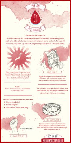 Blood infographic of O type. Source: bloodbook.pmi.or.id