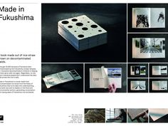 METER Group AG - Made in Fukushima. A book made out of rice straw grown on decontaminated farmland. Fukushima, Advertising Awards, Ads, Nuclear Disasters, Tribeca Film Festival, Music Licensing, Background Information, Media Design, Ideas