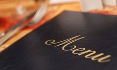 The psychology of menus ...
