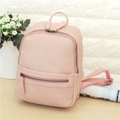 Women Lady PU Leather Backpack Casual Fashion Shoulder School Bag