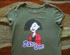 Handpainted Daria T-Shirt - Juniors Medium - Retro 90s Grunge MTV Cartoon Jane  #Handmade #GraphicTee
