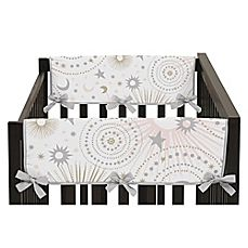 image of Sweet Jojo Designs Celestial Side Crib Rail Guard Covers in Pink/Gold (Set of 2)