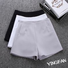 Cheap ladies fashion shorts, Buy Quality ladies shorts directly from China womens fashion shorts Suppliers: 2017 New Summer hot Fashion New Women Shorts Skirts High Waist Casual Suit Shorts Black White Women Short Pants Ladies Shorts Terno Casual, Traje Casual, Casual Suit, Casual Shorts, Loose Shorts, High Waisted Shorts, White Shorts, Harem Shorts, Short Skirts