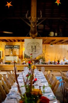Country-western style wedding.