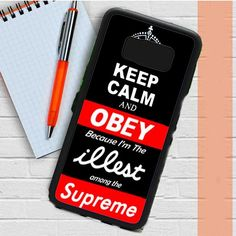 Keep Calm Obey Illest Among Supreme Samsung Galaxy S8 Plus Case Dewantary