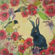 A Shadow in the Garden l limited edition print of by DreamSquirrel