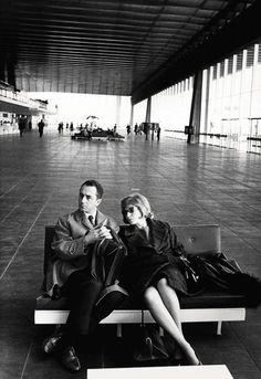 Michelangelo Antonioni and Monica Vitti in Rome in 1962.