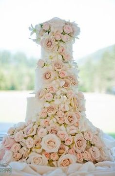 Beautifully decorated with lush  cascading roses <3